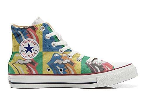 MYS Sneaker Original Hi Customized personalisiert Schuhe (gedruckte Schuhe) Rolling Stones TG38