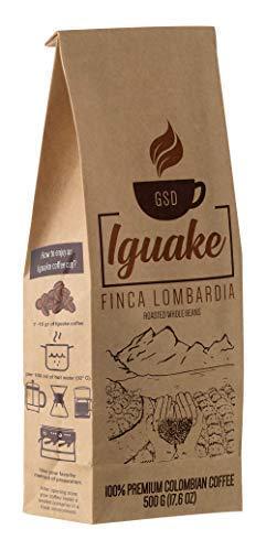 Iguake Coffee 500gr Premium Kaffee ganze Bohnen 100% Arabica aus Kolumbien | Familienbetrieb - Single Origin Kaffeebohnen - Nachhaltige eigene Plantage im Hochland - Kräftiges Aroma