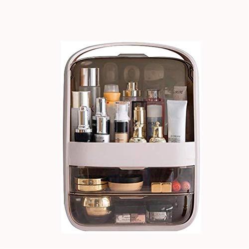 WYBFZTT-188 Caja de Almacenamiento, Caja de Almacenamiento cosmética portátil, Caja de Almacenamiento a Prueba de Polvo de Escritorio, cajón Transparente de múltiples Capas