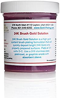4 oz Gel - 24k Brush Gold Plating Solution - The Fastest, Most Durable, Best Value, Most Consistent Gold Solution from The Most Trusted Name in The Industry Instant Results (4 oz Gel)
