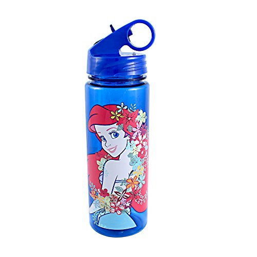 Silver Buffalo DQ7564 Disney Princess Little Mermaid Pose Tritan Water Bottle, 20-Ounces