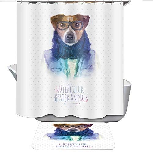 Baño Grueso Impermeable Y Mildewproof Cortina De Ducha, Cortina De Ducha IKEA Estilo, Durable (Color : B, tamaño : 200cm*200cm)