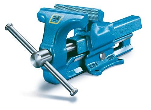 HEUER Schraubstock, 120mm (aus Stahl, unzerbrechlich; Amboss, Trapezgewinde integriert; Backenbreite: 120 mm, Durchmesser: 16 – 55 mm, 9 Kg) 100120