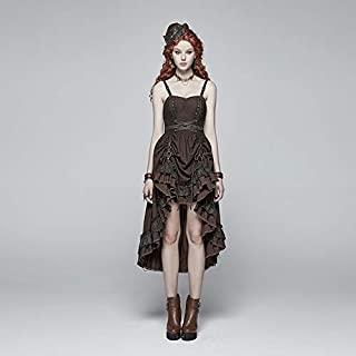 Black Dresses for Women, Steampunk Pleated Long Black Dresses for Women, Sleeveless Halter Black Dress for Women for Christmas Prom Sexy Dress Christmas Costume Ball Gown