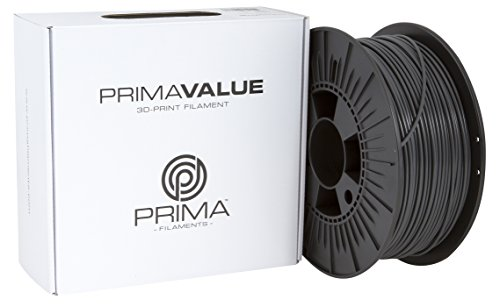 Prima Filaments PV-ABS-175-0750-DG PrimaValue 3D-Print Filament, 1.75 mm, 1 kg Spool, Dark Grey