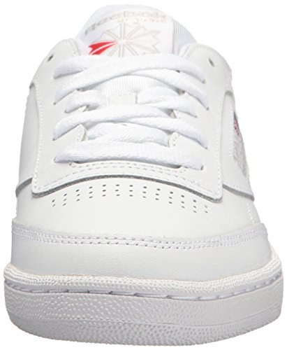 Reebok womens Club C 85 Walking Shoe, White/Light Grey, 7.5 US Nebraska