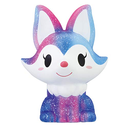 ibloom Foxy Fox Cute Animal Slow Rising Squishy Toy (Stella, Blueberry Scent) for Birthday Gifts, Party Favors, Stress Balls, Play at Home & Relieve Stress with Kawaii Squishies for Kids, Girls, Boys