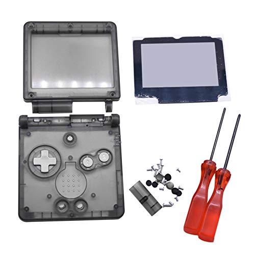 Meijunter Ersatz Transparent Klar Voll Gehäuse Shell Hülle Reperatur Teile Kits w/Objektiv&Schraubendreher für Nintendo Gameboy Advance SP GBA SP Console