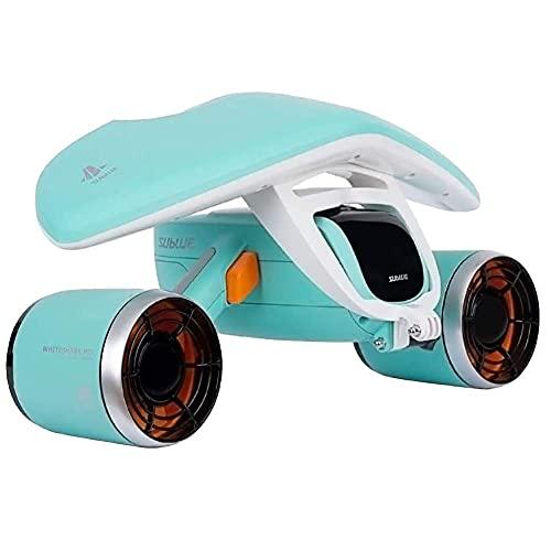 Scooter subacuático Booster doble hélice portátil para buceo, natación, esnórquel con soporte para cámara deportiva BJY969 (color verde)