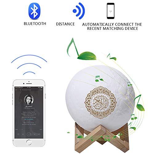 3D Mondlicht Quran Moonlight mit Muslimen Quran Koran Speaker Coran Player Drahtloses Bluetooth Touch Press Moon Lamp