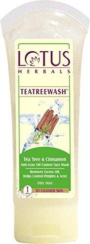 Lotus Herbals Tea Tree and Cinnamon Anti-Acne Oil Control Face Wash-120g