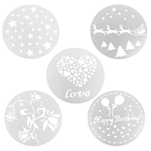 Juego de 5 moldes de plástico para decoración de tartas, fondant, tartas de cumpleaños, bodas, pasteles, chocolate, repostería