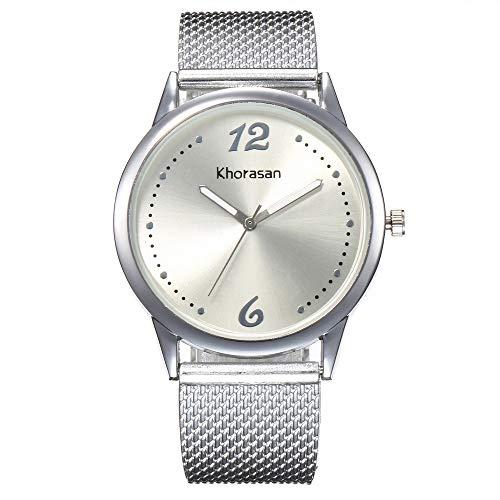 XIAOD Reloj De Lujo para Mujer, Reloj De Acero Inoxidable para Damas,...