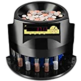 Goplus Electric Coin Counter, Coin Sorter Machine Large Capacity...