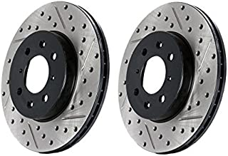 1 Pack Front Right StopTech 127.42111R Sport Drilled//Slotted Brake Rotor