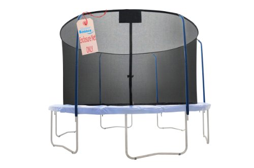 Upper Bounce Replacement Safety Enclosure Net, Fits 15  Round Trampoline, Using 5 Curved Poles with Top Ring Frame