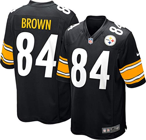 NFL Nike Pittsburgh Steelers Antonio Brown Black Youth Game Jersey Size Large