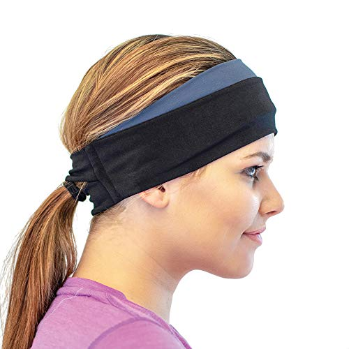 Red Dust Active Winter Headband  Cold Weather Headwear for Active Women  Warm amp Cozy Ear Muffs  Ponytail Friendly  Trail Running Ear Warmers  Comfortable amp Soft Moisture Wicking Sweatband