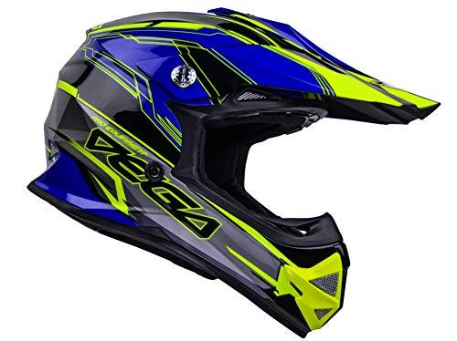 Vega Helmets 36099-023 Unisex-Child Youth Off Road Helmet (Blue Stinger Graphic, Medium)