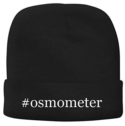 BH Cool Designs #Osmometer - Men's Hashtag Soft & Comfortable Beanie Hat Cap, Black, One Size