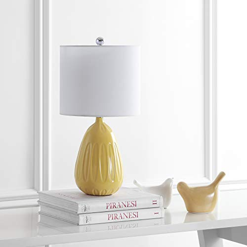 Safavieh TBL4165A Lighting Linnett Yellow 20-inch (LED Bulb Included) Table Lamp