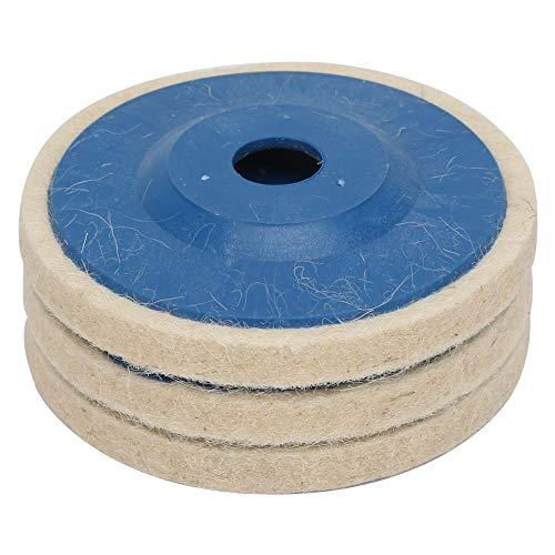 Disco de pulido de fieltro de 4 pulgadas, práctico y regular, disco pulido, metal para cerámica de piedra de vidrio