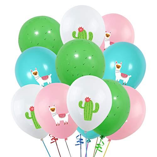40PCS Llama Cactus 3D Printed Party Balloons Decorations, Llama Themed Birthday Party Supplies, Bolivian Peru Alpaca Party Cactus 12 INCH Thick Latex Balloons for Baby Shower Kids Birthday Party Decor