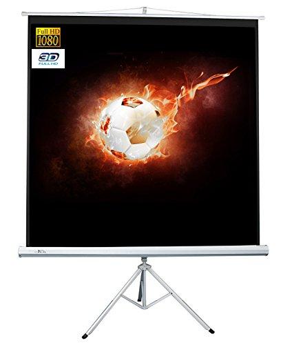 Luxburg Schermo proiezione a Cavalletto per Videoproiettore per Home theater / Giochi / Streaming 152x152 cm (Diagonale 215 cm / 85 Pollici) FullHD 3D