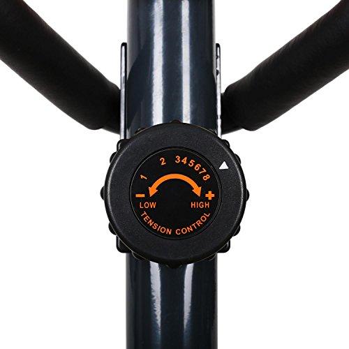 Klarfit Ellifit FX 250 – Nordic Walking Ellipsentrainer, Crosstrainer, Handpulsmesser, Trainingscomputer, 8 Stufen Widerstand, für Personen mit einem Gewicht bis 110kg, schwarz-orange - 6