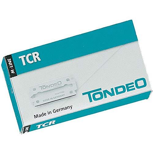 Tondeo TCR Kabinett-Klingen 10 Stück Klingen für Schnitt und Rasur