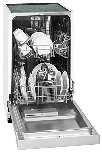 Exquisit Geschirrspüler EGSP 6025 Inox | Teilintegriert, Einbaugerät | 9 Maßgedecke |