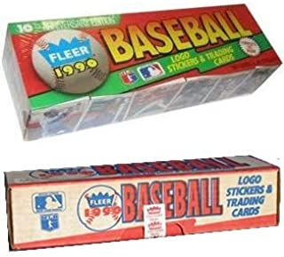 1990 Fleer Baseball Cards Complete Factory Set of 660 Cards + 45 Stickers - Includes Rookie Card of Sammy Sosa, Juan Gonzalez, Larry Walker, Plus, many other Hall of Famers & MLB Superstars