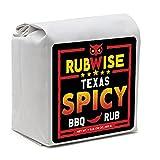 Texas Style Spicy BBQ Rub by RubWise   BBQ Rub for Brisket, Steak, Burgers & Ribs   Meat Seasoning & Spice Dry Rub   No MSG  1lb