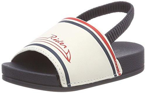 Rider Unisex Baby R86 Slide Sandalen, Mehrfarbig (Blue/White/Red), 22/23 EU