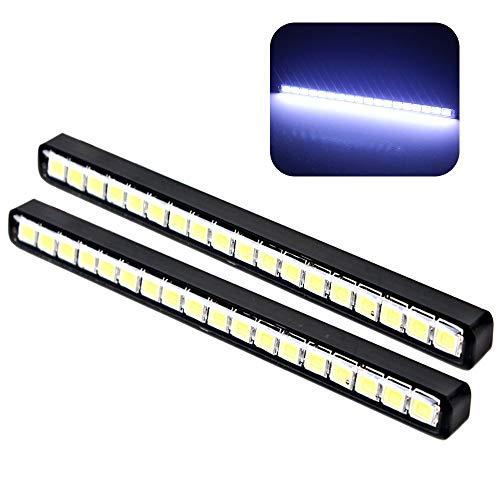 Itimo Voiture Jour lumière LED DRL universel 18 LED Voiture feux de jour de voiture Styling (Blanc)