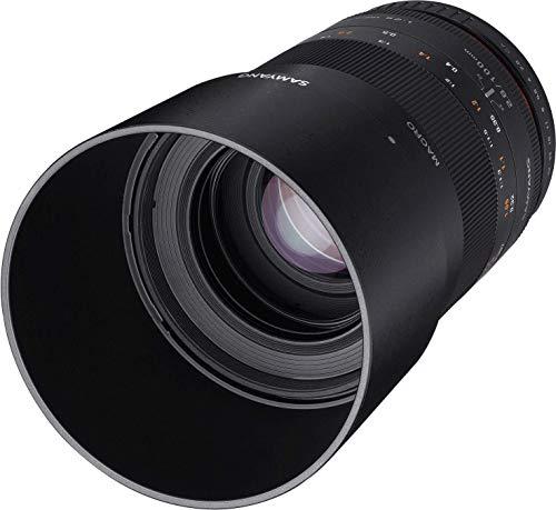 Samyang 100/2,8 Objektiv Makro DSLR Fuji X manueller Fokus Fotoobjektiv, Makroobjektiv schwarz