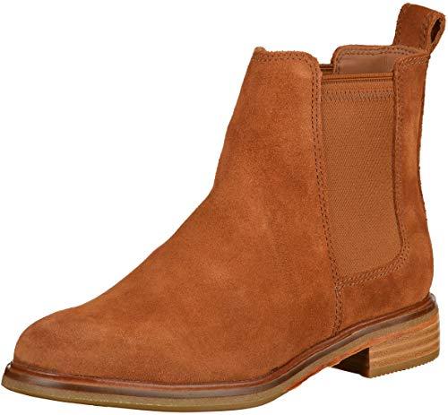 Clarks Damen Clarkdale Arlo Chelsea Boots, Braun (Dark Tan Suede), 39.5 EU