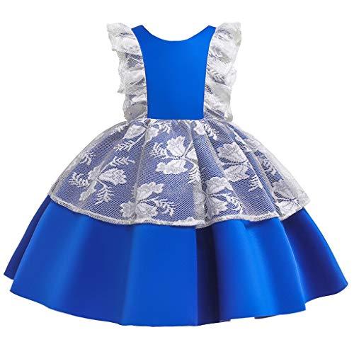 Riou Beb Infantil Nias Vestido de Bautizo de Cumpleaos Bautismo Vestido de Banquete de Boda Halloween Princess Nets Tutu Dress Falda + Sombrero Disfraz de Cosplay