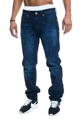 Rocawear Jeans Men Relaxed FIT Mid Blue 855, Hosengröße:30