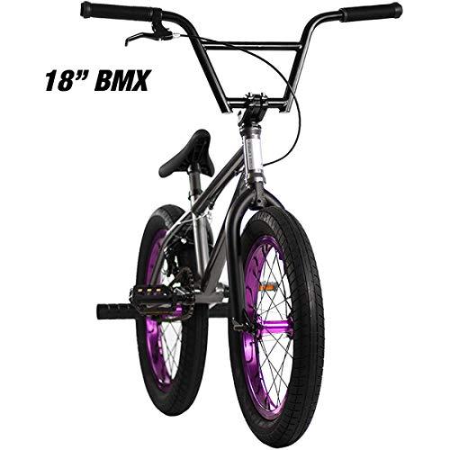 "Elite 20' & 18"" BMX Bicycle Destro Model Freestyle Bike - 4 Piece Cr-MO Handlebar (18' Grey)"