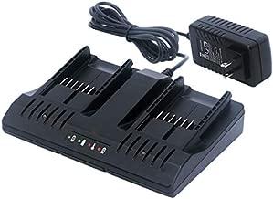 Lasica WA3875 20V Li-ion Dual Port 2 Hour Charger Replacement for Worx 18/20-Volt MaxLithium PowerShare Batteries WA3578 WA3525 WA3520 WA3575 WA3512 Worx 20V Lithium Battery Charger WA3770 WA3742