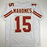 Unsigned Patrick Mahomes Kansas City White Custom Stitched Football Jersey Size Men's XL New No Brands/Logos