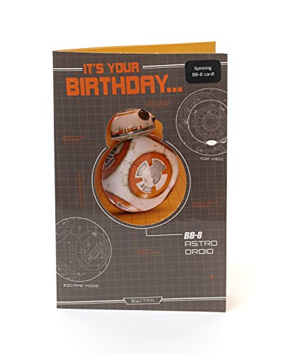 Disney Star Wars Geburtstagskarte – Spinning BB-8!