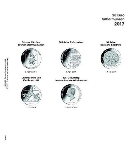 Lindner 1520-17 Vordruckblatt 20 Euro-Silbermünzen 2017