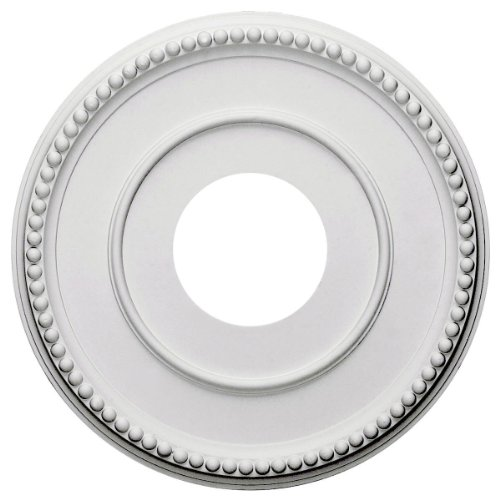 Ekena Millwork CM12BR Bradford Ceiling Medallion, 12 1/2'OD x 3 7/8'ID x 3/4'P (Fits Canopies up to 6 5/8'), Primed