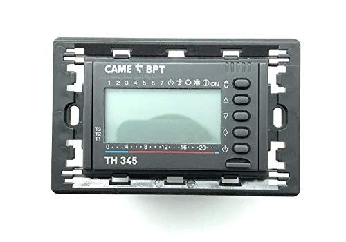 Cronotermostato da incasso elettronico digitale settimanale grigio TH 345 GR