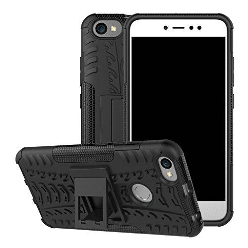 FaLiAng Xiaomi RedMi Note 5A Prime Funda, 2in1 Armadura Combinación A Prueba de Choques Heavy Duty Escudo Cáscara Dura para Xiaomi RedMi Note 5A Prime (Negro)