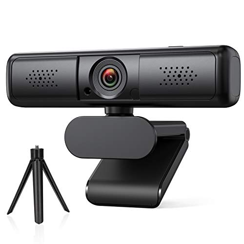 DEPSTECH Webcam 2K, Webcam with Microphone for Desktop, Web Camera for Computers, USB Webcam Compatible with PC/Desktop/Laptop/Mac, Streaming Webcam Plug & Play 【Privacy Cover and Tripod】