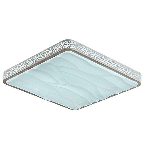 BRIGHTLLT Lumière de plafond LED Atmosphère Salle de séjour ondulée Lumière Réchauffeur Chambre Lumière Carré Moderne Éclairage simple, 500 * 500 * 50mm