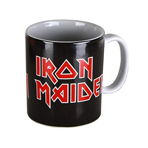 Iron Maiden Iron Maiden Logo Unisex Taza Negro/Rojo/blanco, cerámica, 0,3 l